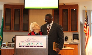Dr. Lonnie L. Howard with Elnora Medley