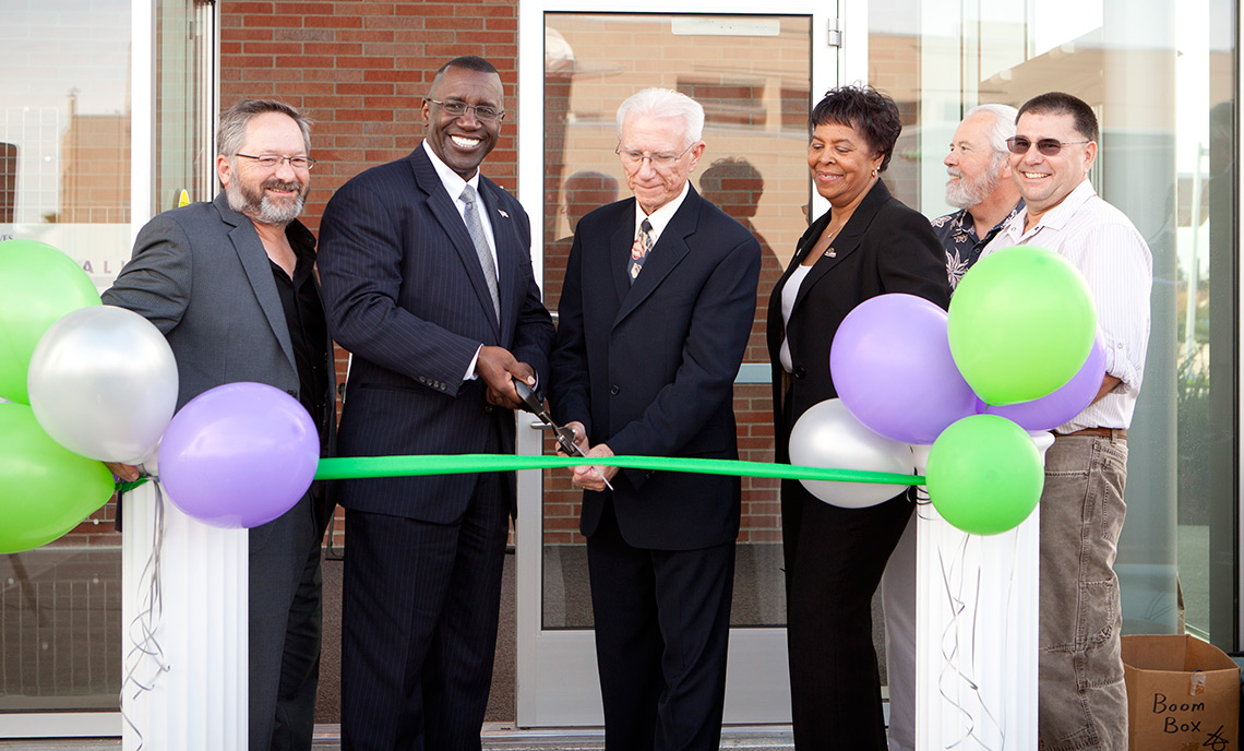 Dr. Lonnie L. Howard and Dr. John Walstrum at the opening of Clover Park Technical College's Health Sciences Facility