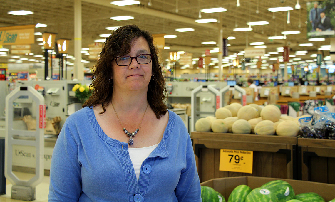 Barbara Nelson was promoted in her position at Fred Meyer before she completed the Retail Management Certificate Program at CPTC.