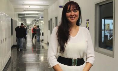 Albina Moore, a graduate of Clover Park Technical College's aerospace composites program.