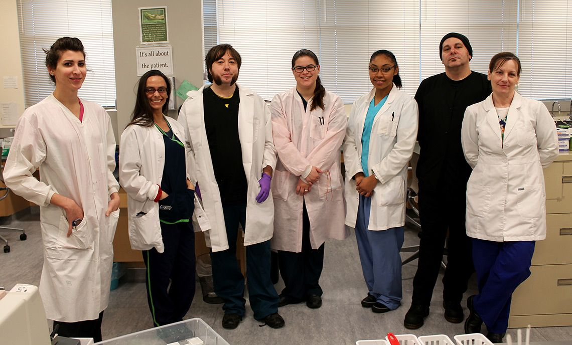 Medical Histology Technician students are volunteering to assist the Department of Pathology at Madigan Army Medical Center on Joint Base Lewis-McChord.