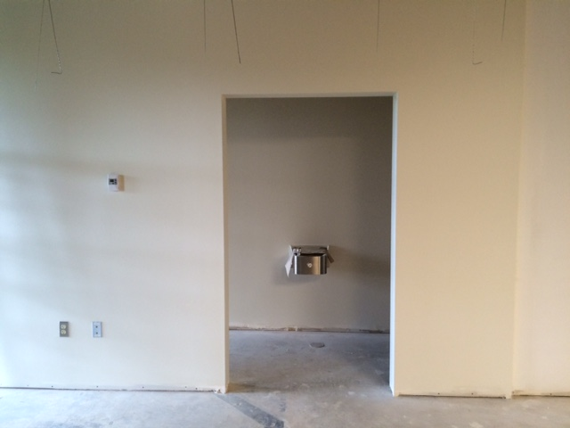 The restroom in the main lobby.