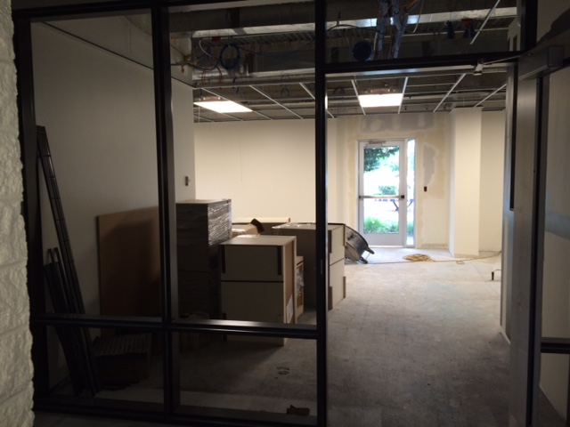 Looking into the Advising & Counseling Office.