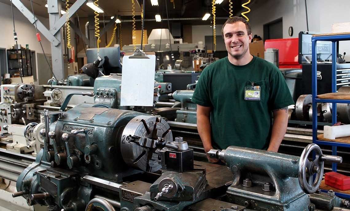 U.S. Marine Corps veteran Jake Boushack is in his second quarter of the Manufacturing Technologies Program.