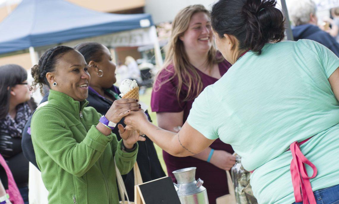 students getting ice cream