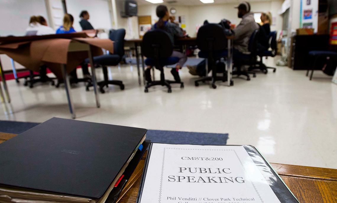 Venditti public speaking class