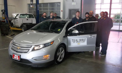 CPTC Hybrid students with Chevy Volt