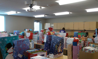 A total of 87 CPTC student families received hundreds of gifts through Holiday House, a longstanding tradition of generosity at CPTC.