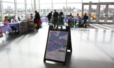 Winter Fest sign and tables