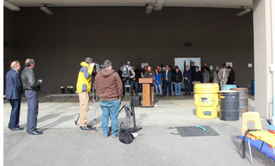 Clover Park Technical College hosted a media event to raise awareness of a grant-funded environmental remediation course Friday, Feb. 24, at the CPTC Lakewood Campus.