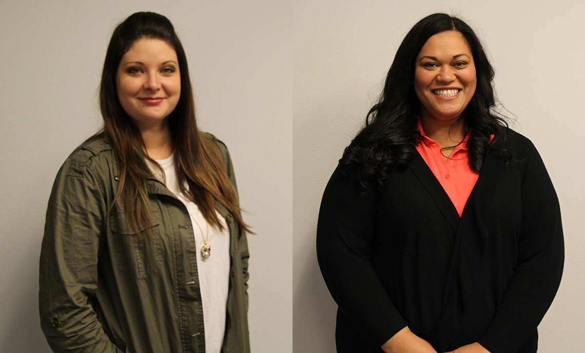 CPTC students Jessica Bracken (left) and AnneMarie Mafi (right) will be recognized as All-Washington Academic Team honorees at a March 23 ceremony.