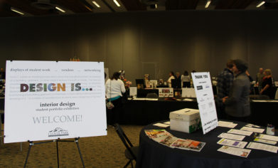 """The CPTC Interior Design program hosted its Winter Student Portfolio Exhibition titled """"Design Is..."""" Friday, March 17, at the McGavick Conference Center."""