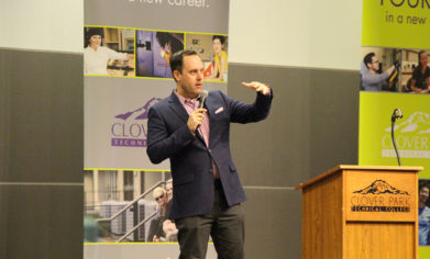 Award-winning journalist Chris Daniels served as emcee for the 11th Annual CPTC Foundation Scholarship Banquet in April.