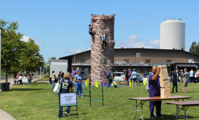 Attendees enjoyed a rock climbing wall, giant Jenga and more at the 2017 Spring Fest on May 25.