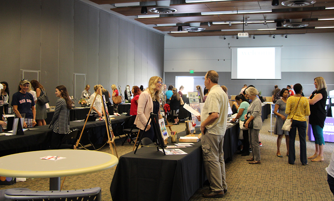A total of 15 CPTC Interior Design students showed off their work from their six quarters in the program at the Student Portfolio Exhibition on Aug. 29.