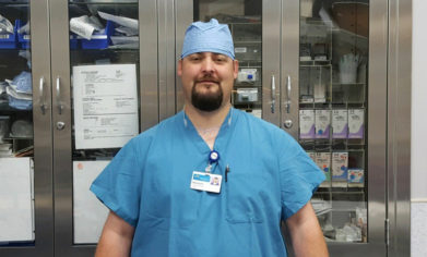 CPTC Surgical Technology alum Mitchell Sweet
