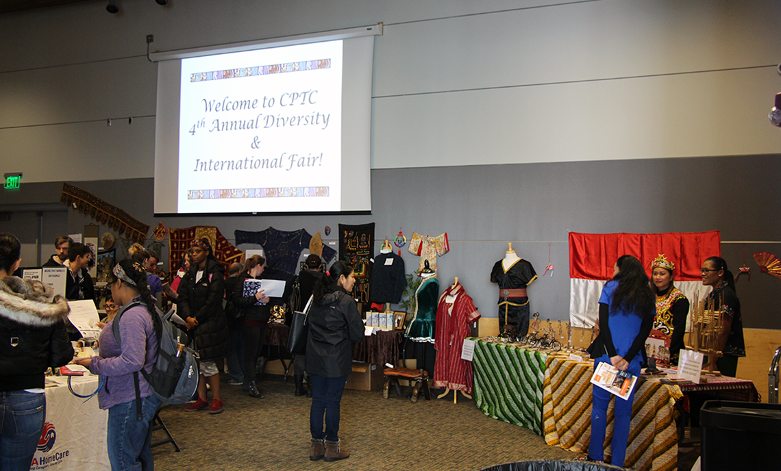 CPTC's Fourth Annual Diversity & International Fair introduced attendees to various cultural artifacts from around the world.