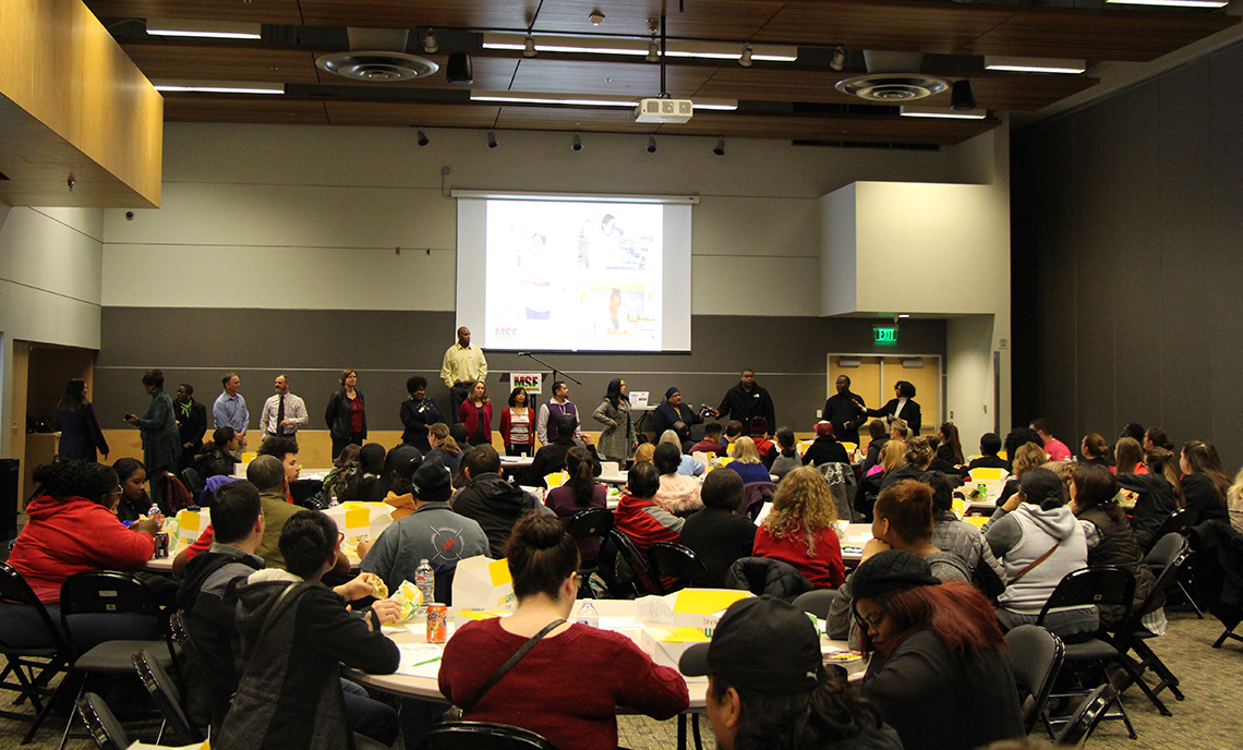 More than 150 CPTC students, staff and faculty members attended the Minority Student Engagement Leadership Luncheon on Nov. 29.