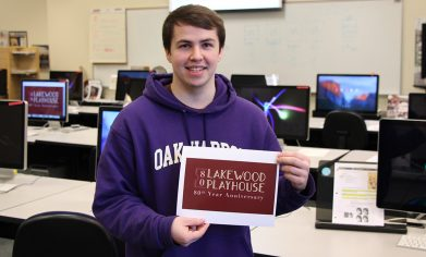 CPTC Graphic Technologies student John Barger designed 80th Anniversary logo for the Lakewood Playhouse as part of a collaboration between the local theatre and CPTC.