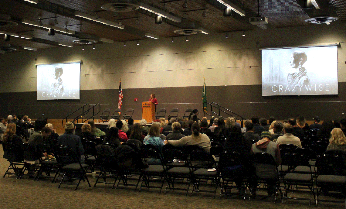 """Nearly 200 students, staff, faculty and community members attended the screening and discussion of """"Crazywise"""" at CPTC's Lakewood Campus on March 14."""