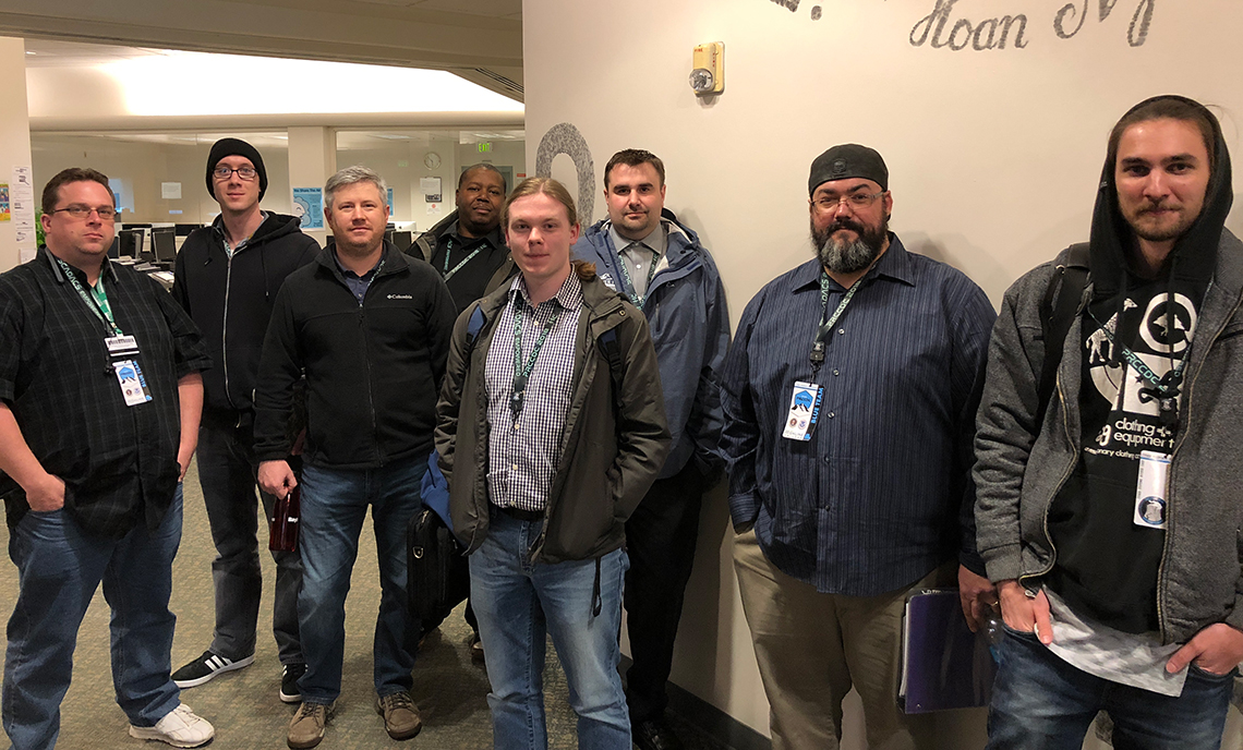 Eight CPTC Computer Networking & Information Systems Security students competed at the 2018 Pacific Rim Collegiate Cyber Defense Competition March 23-25 at Highline College.