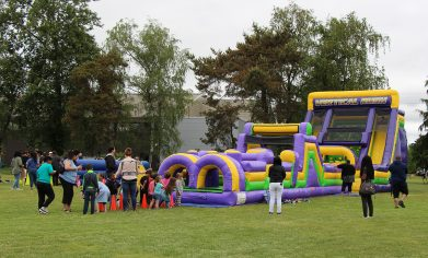 CPTC students, staff, faculty, friends and family joined the festivities for the annual Spring Fest, which featured an inflatable obstacle course.