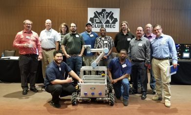 CPTC sent 13 students and three faculty members from the Mechatronics program to the 2018 CAMPS Conference. MIRU also made the trip (pictured in center of the group).