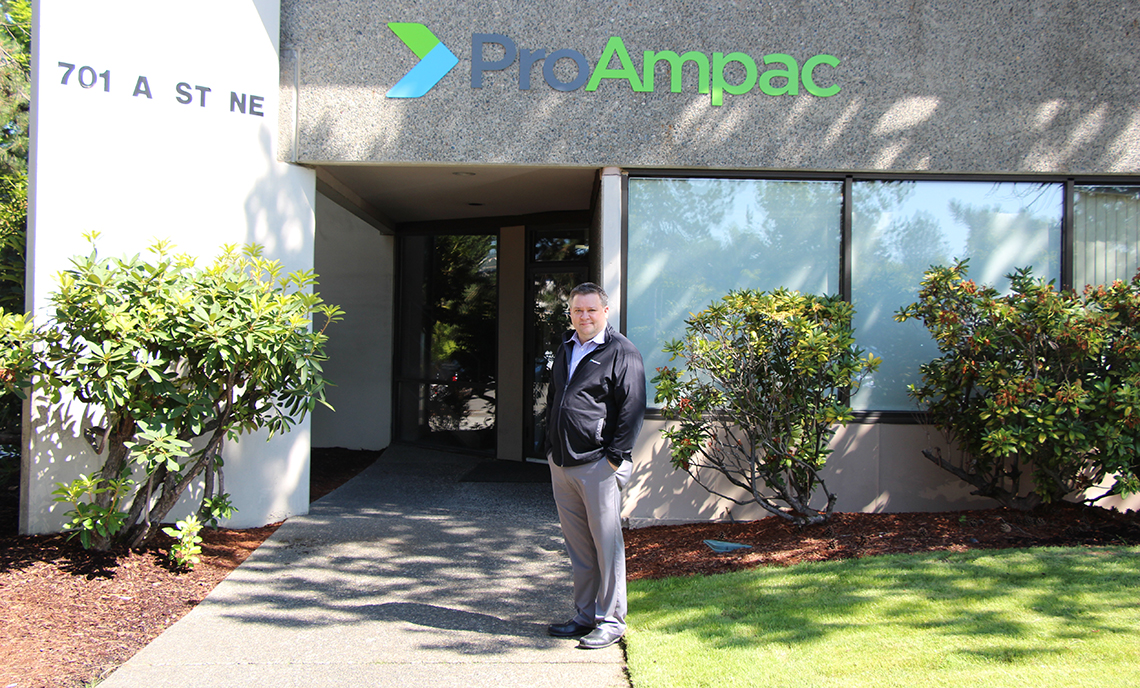 CPTC alum Joe Lydic works as the art director at ProAmpac in Auburn.