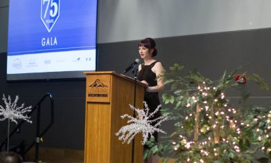 Heather Morgan served as the student speaker at CPTC's 75th Anniversary Gala in May 2018.