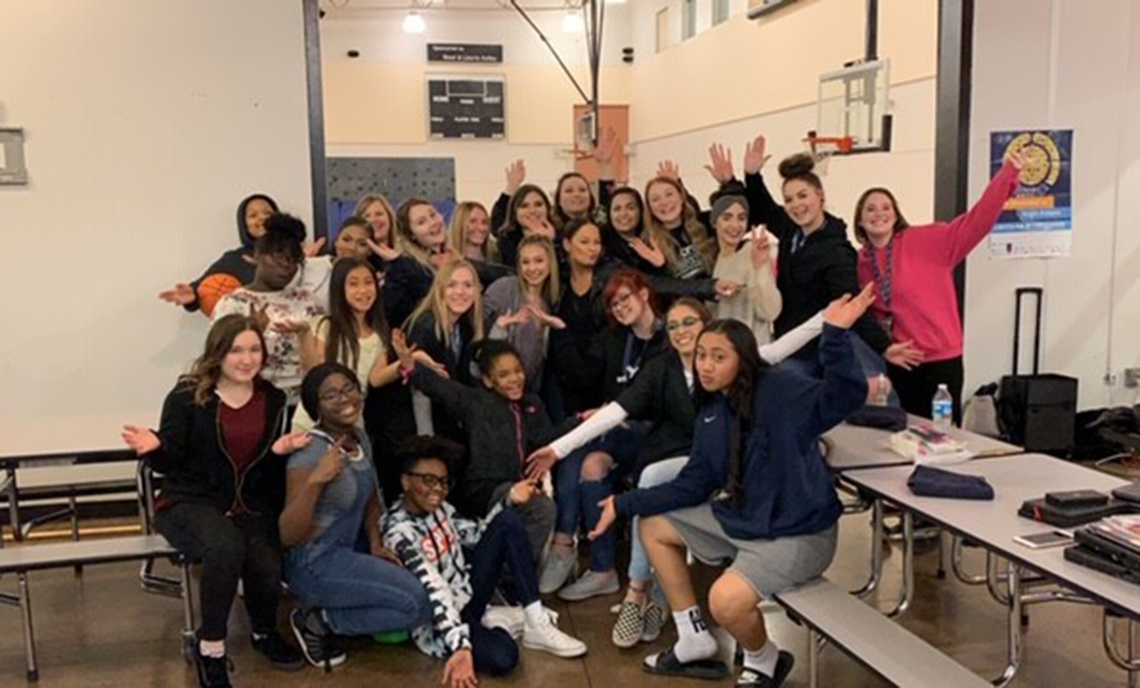 CPTC Cosmetology students enjoyed sharing their skills with local girls at the Lakewood Boys & Girls Club's Girls' Night.