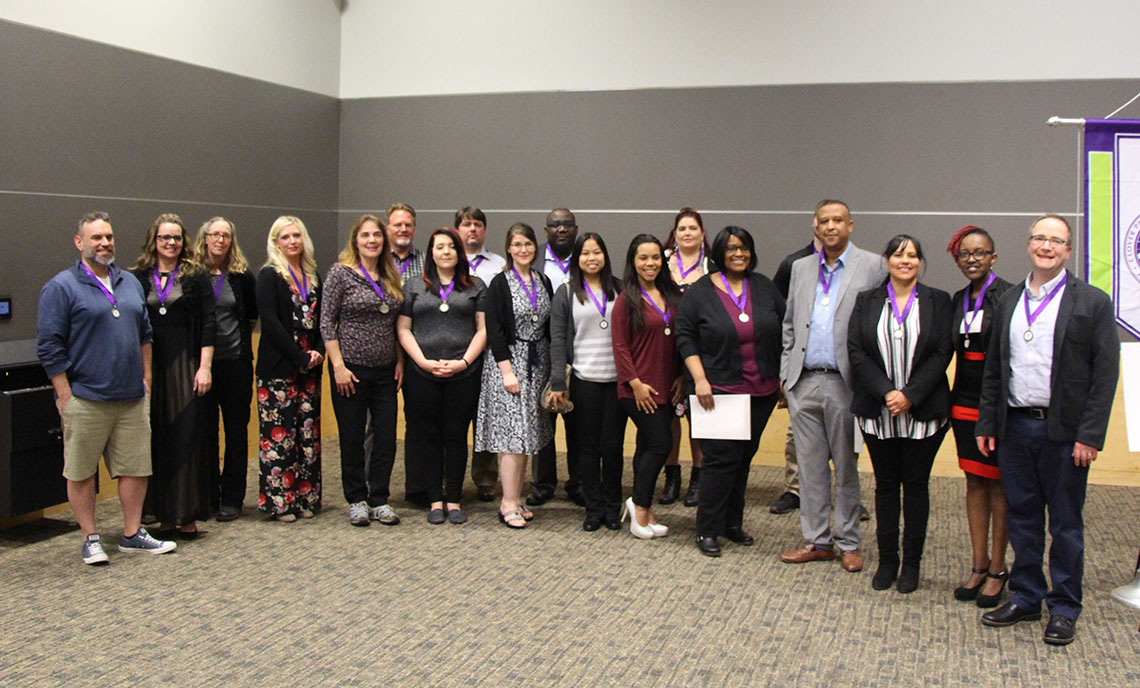 A group of CPTC scholarship recipients