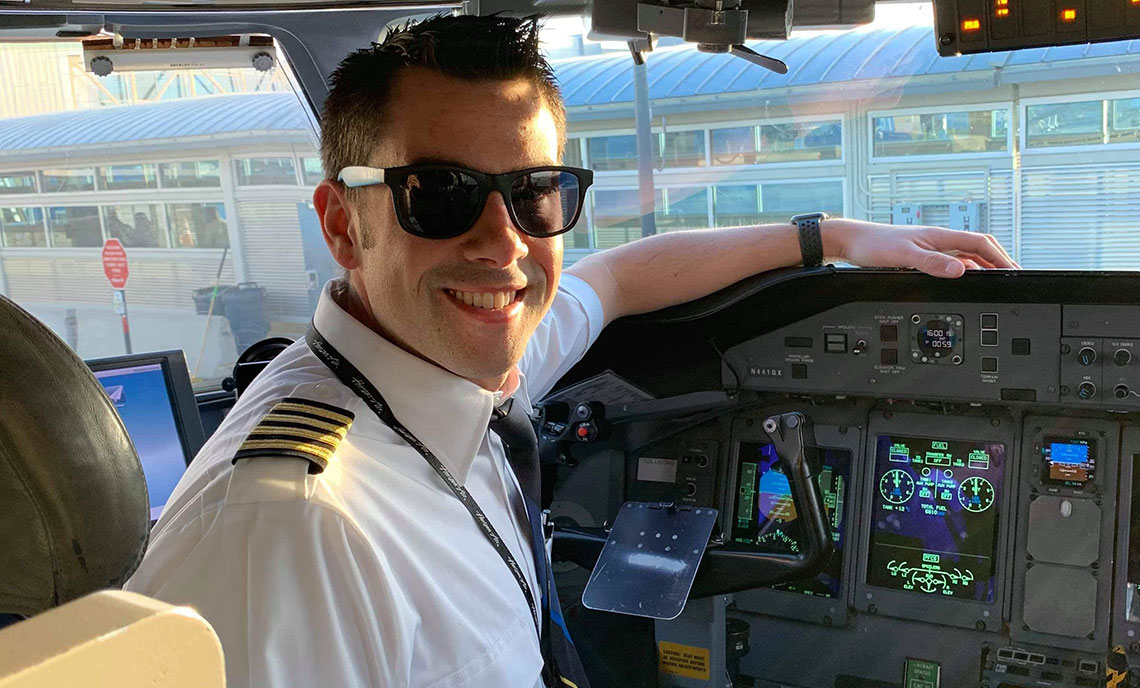 CPTC Professional Pilot alum Adam Carollo works as a pilot with Alaska Airlines.
