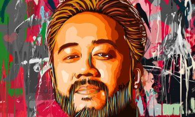 Artwork depicting Rocky Sandoval