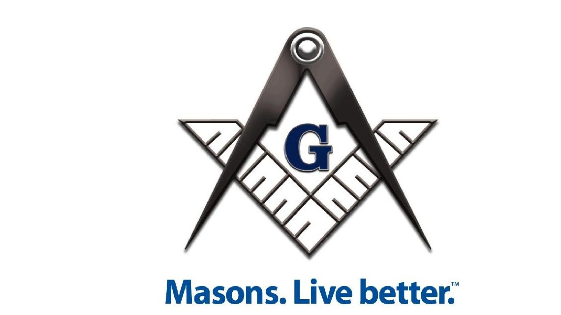 Black and White Masons Logo