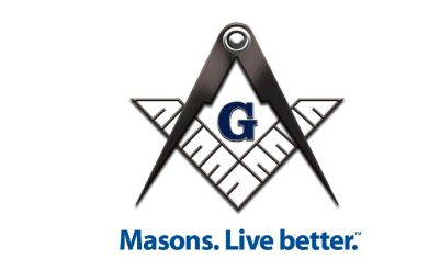 Black and White Masons Logo