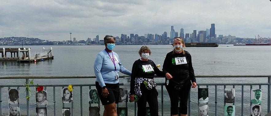 Three women on Seattle Ferry