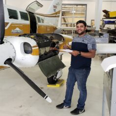 CPTC Aviation Maintenance Technician student Fawzy Youssef