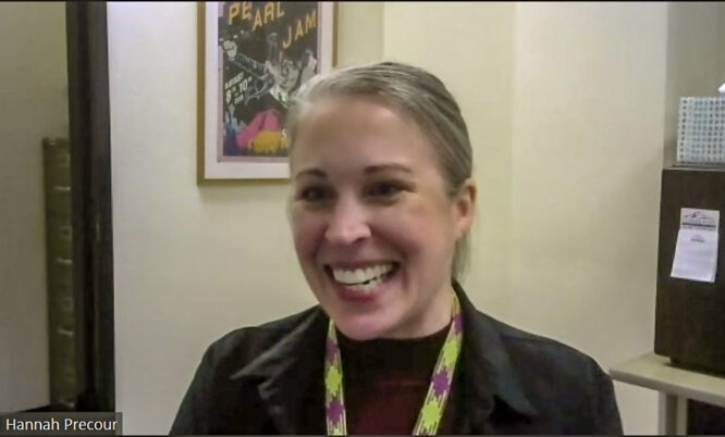 Smiling woman Hannah Precour