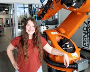 Clover Park BAS Mechatronics Engineering Technology and Automation student Kaitlyn Pype.